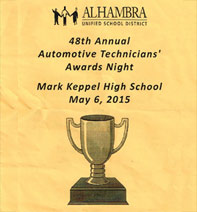 Mark Keppel High School Automotive Tech Award 2015 | All Car Specialists