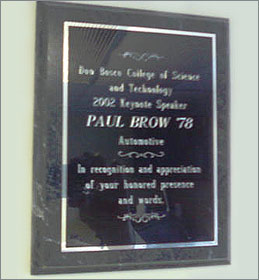 Don Bosco College of Science and Technology Award | Paul Brow